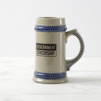 Government Censorship Beer Stein