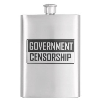 Government Censorship Hip Flask