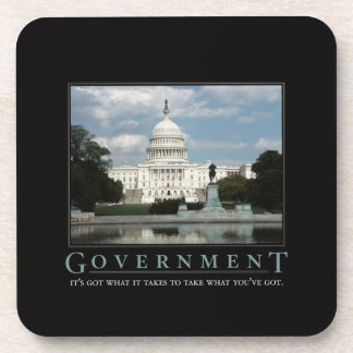 Government Demotivational Cork Coaster