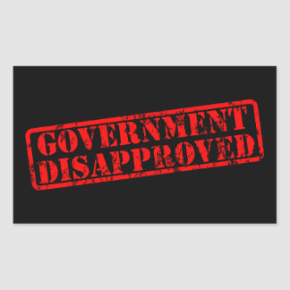Government disapproved rectangular stickers