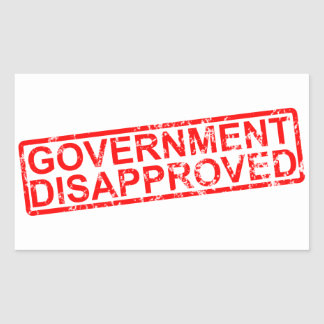 government disapproved stickers
