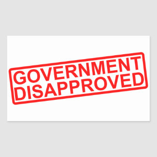 government disapproved rectangle sticker