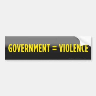 Government Equals Violence Bumper Sticker