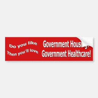 Government Healthcare Bumper Sticker