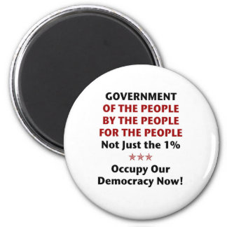 Government Of the People 2 Inch Round Magnet