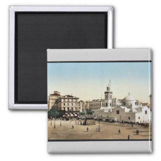 Government place, Algiers, Algeria vintage Photoch Magnet
