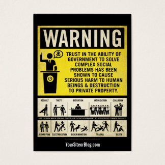 Governmet Warning Promotion Cards
