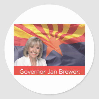 Governor Jan Brewer Classic Round Sticker