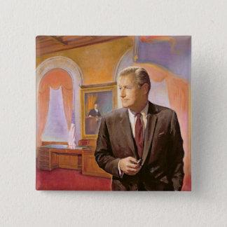 Governor Nelson A. Rockefeller 2 Inch Square Button