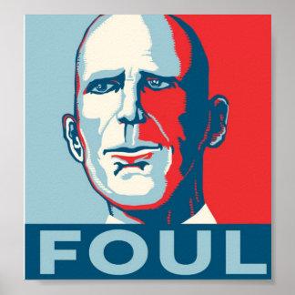 Governor Rick Scott FOUL Poster