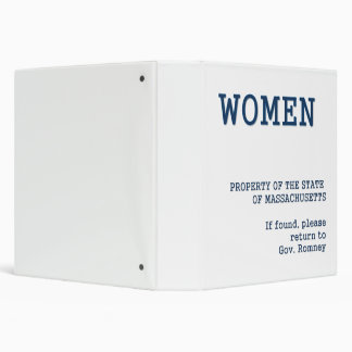 Governor Romney's Binder full of women