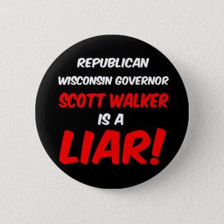 governor scott walker 2 inch round button