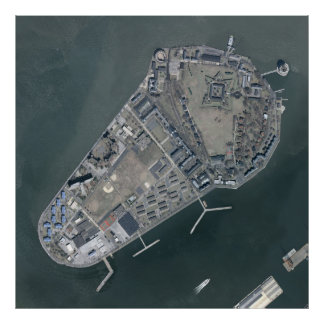 Governors Island Aerial Photograph Poster