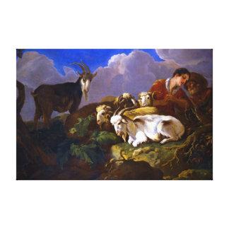 Govert van der Leeuw Shepherds Canvas Print