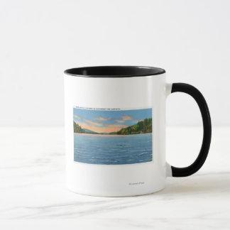 Govt. Free Camp Sites View of Lower Saranac Lake Mug