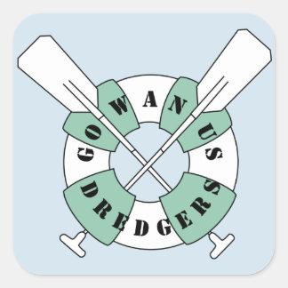 Gowanus Dredgers Rectangle Sticker Blue