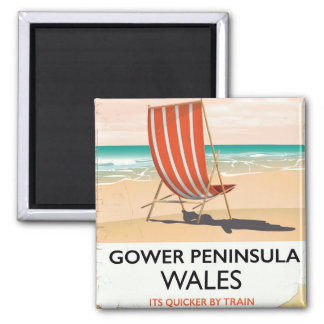 Gower Peninsula Wales vintage travel poster Magnet