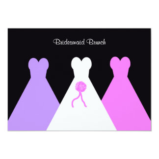 Gowns Bridesmaid Luncheon  or Brunch Invitation
