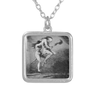 Goya_-_Caprichos_ Silver Plated Necklace