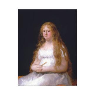 Goya Josefa de Castilla Portugal y van Asbrock Canvas Print