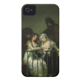 Goya Majas on Balcony fine art famous painting iPhone 4 Case-Mate Cases
