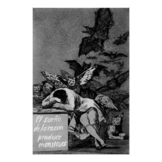 Goya The Sleep of Reason Produces Monsters Poster