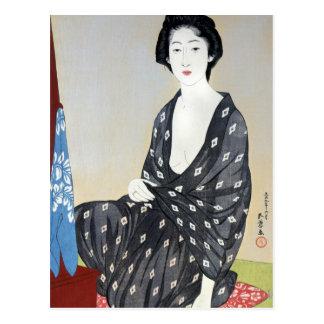 """Goyo """"Woman in Kimono"""" Postcard"""