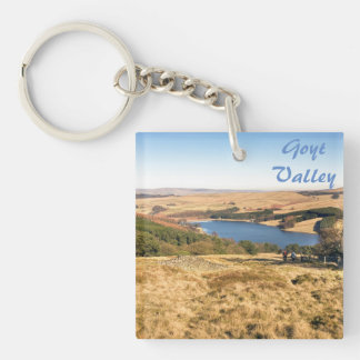 Goyt Valley, Peak District souvenir photo Keychain