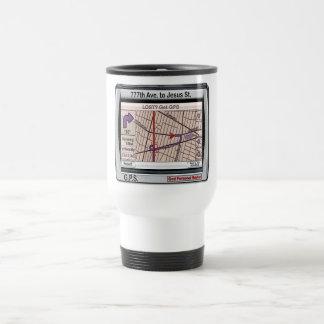 GPS God Personal Savior 15 Oz Stainless Steel Travel Mug