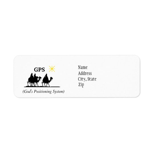 GPS God's Positioning System Address Labels
