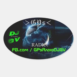 GPs Radio! Car Decal Oval Sticker