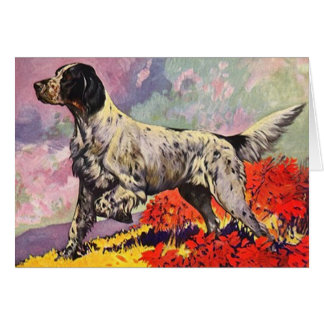 GR8 ENGLISH SETTER Llewellin setter on point CARD