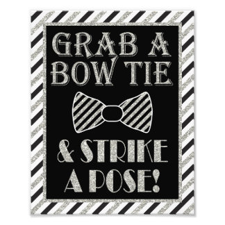 "Grab a Bow Tie & Strike a Pose - 8"" x 10"" Print Photographic Print"