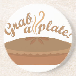 Grab A Plate Drink Coasters