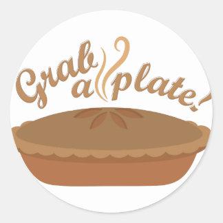 Grab A Plate Round Sticker