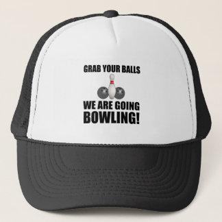 Grab Balls Going Bowling Trucker Hat