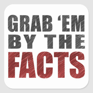 Grab 'em by the Facts 20 Stickers | Resist Trump