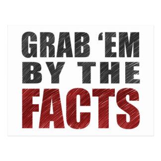 Grab 'em by the Facts Postcard   Resist Trump
