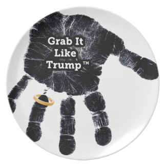 Grab It Like Trump Handprint With Ring Plate