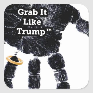 Grab It Like Trump Handprint With Ring Square Sticker