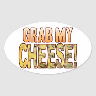 Grab My Blue Cheese Oval Sticker