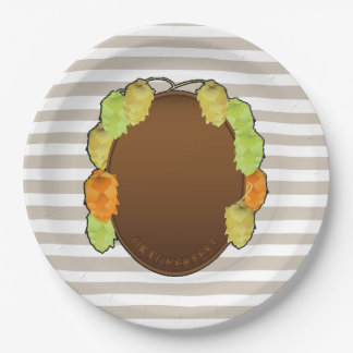 Grab Your Beer Oktoberfest Party Paper Plates 9 Inch Paper Plate