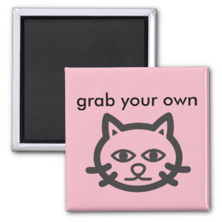 grab your own pussy square magnet