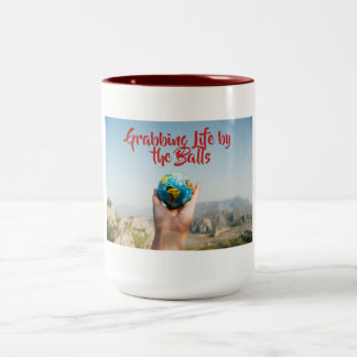 Grabbing Life By The Balls mug