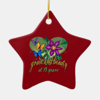 Grace and Beauty at 18 years old Ceramic Ornament