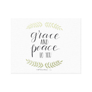 Grace and Peace Canvas Print