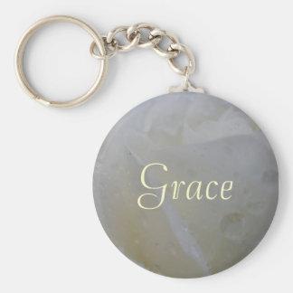 Grace Basic Round Button Keychain