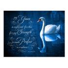 Grace Bible Verse Mute Swan Postcards