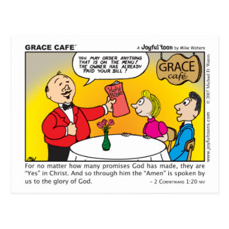 Grace Café postcard