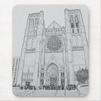 Grace Cathedral Mouse Pad